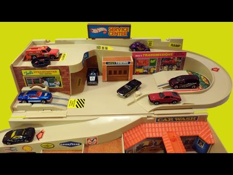 1979-hot-wheels-service-center-sto-&-go-playset-brand-new-unboxing