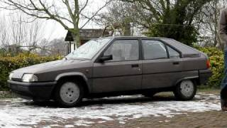 My Citroën BX 15 RE rising to normal position