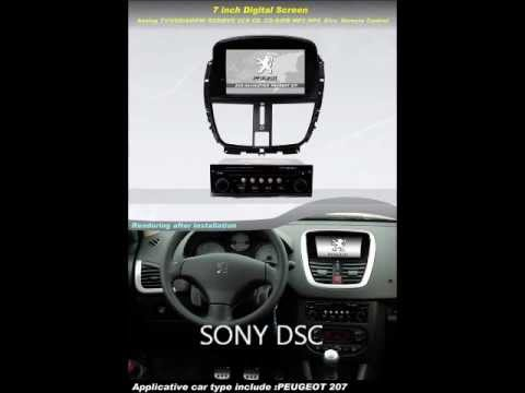 peugeot 207 207cc car gps navigation bluetooth ipod radio usb mp3 tv dvd. Black Bedroom Furniture Sets. Home Design Ideas
