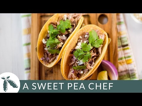 Slow Cooker Green Chile Tacos | A Sweet Pea Chef