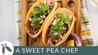 Slow Cooker Green Chile Tacos  A Sweet Pea Chef