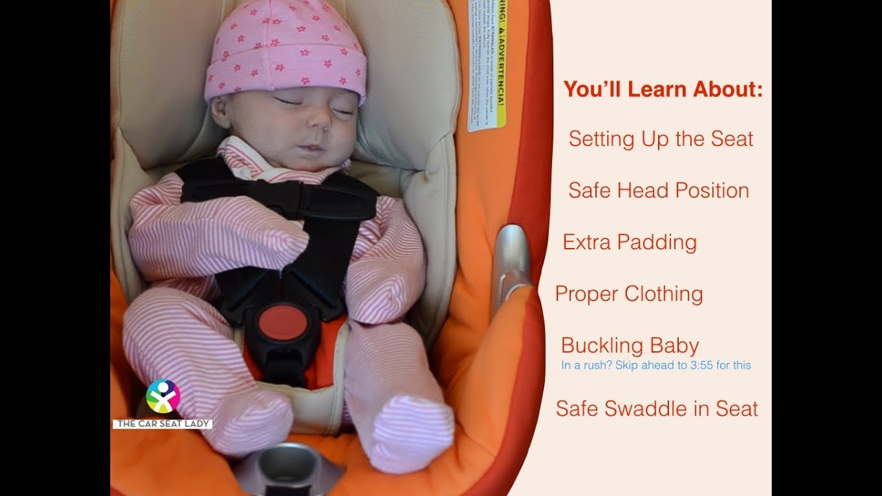 How To Secure Your Newborn In A Car Seat Youtube