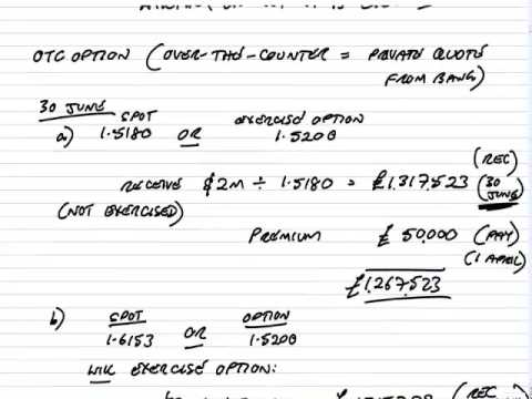 ACCA P4 Foreign Exchange Risk Management Options part 1