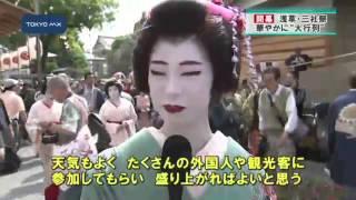 きのう夜、浅草神社の神を神輿に移す「本社神輿神霊入れの儀」が厳粛な...