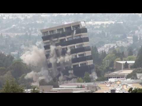 Warren Hall Implosion, California State University East Bay (CalState Hayward), August 17, 2013