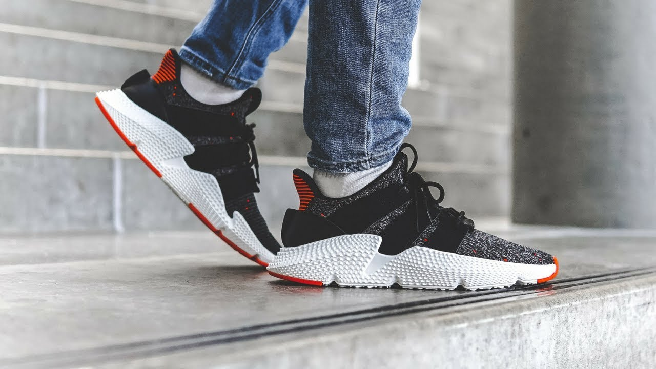 "f02e1c87a8932 adidas Prophere ""Core Black/Solar Red"" 