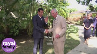 Prince Charles meets Lionel Richie and Tom Jones during Barbados tour thumbnail