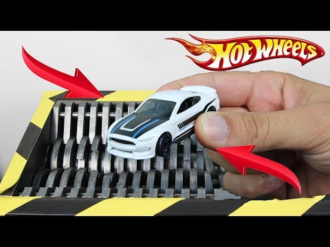 Experiment Shredding Hot Wheels Ford Mustang | The Crusher