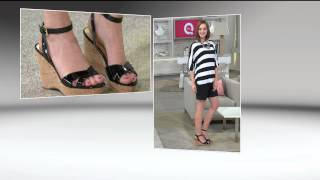 Marc Fisher Cross Strap Wedge Sandals w/ Ankle Strap - Welly with Leah Williams