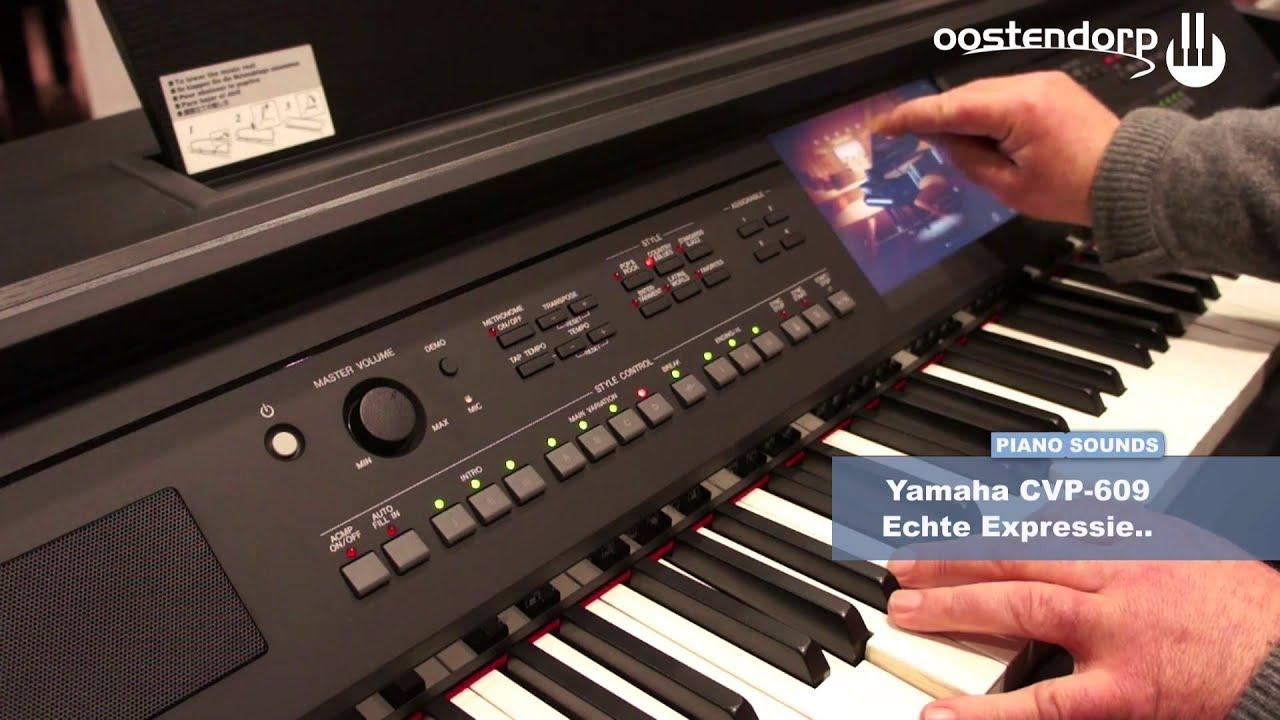 Yamaha Cvp 609 Demo Piano Sounds Youtube
