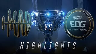 MAD vs EDG - Worlds Group Stage Day 7 Match Highlights (2018)