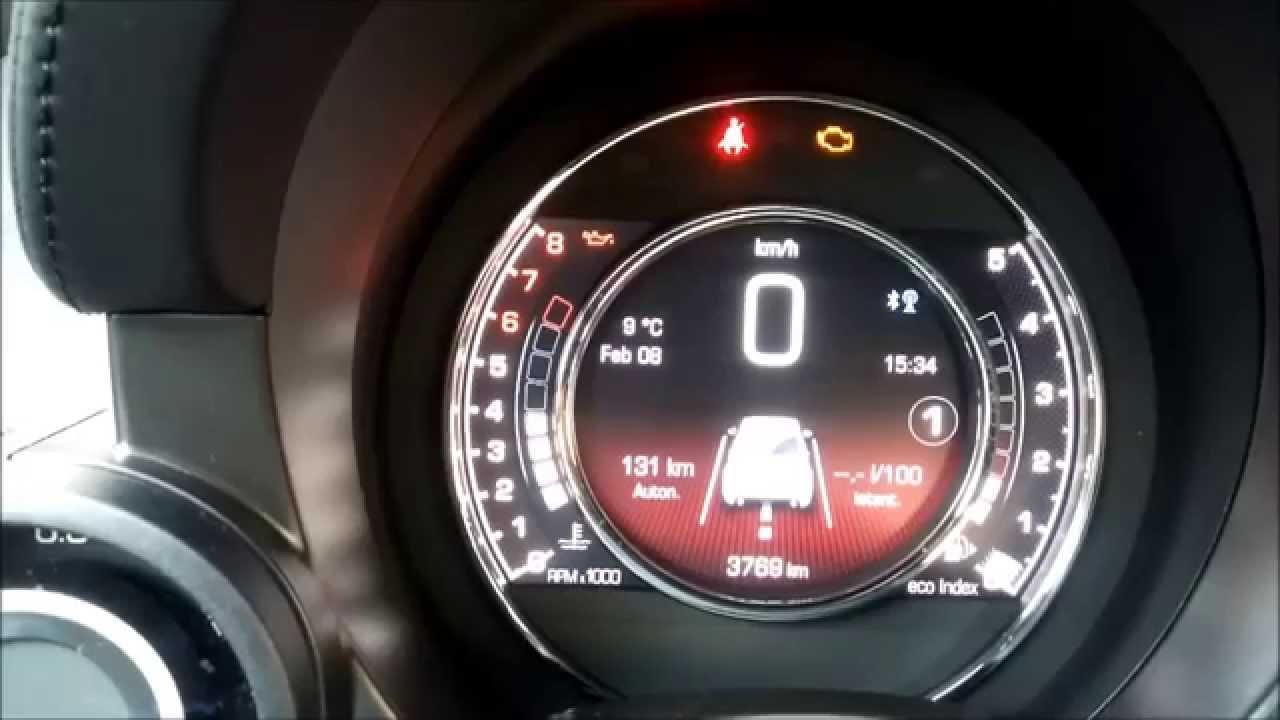 Fiat 500 Sport >> 500 abarth - display TFT - YouTube