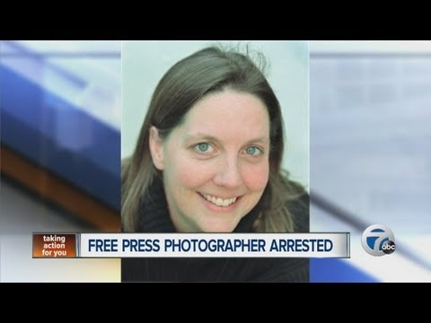 Detroit Free Press photographer arrested