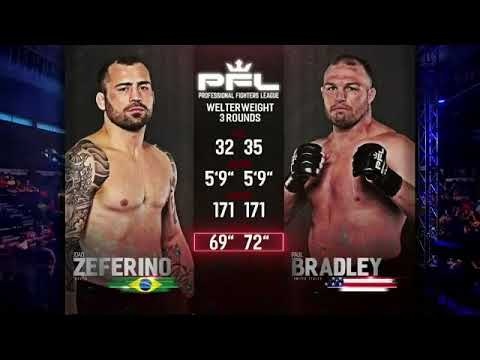 Joao Zeferino vs Paul Bradley PFL 3 MMA