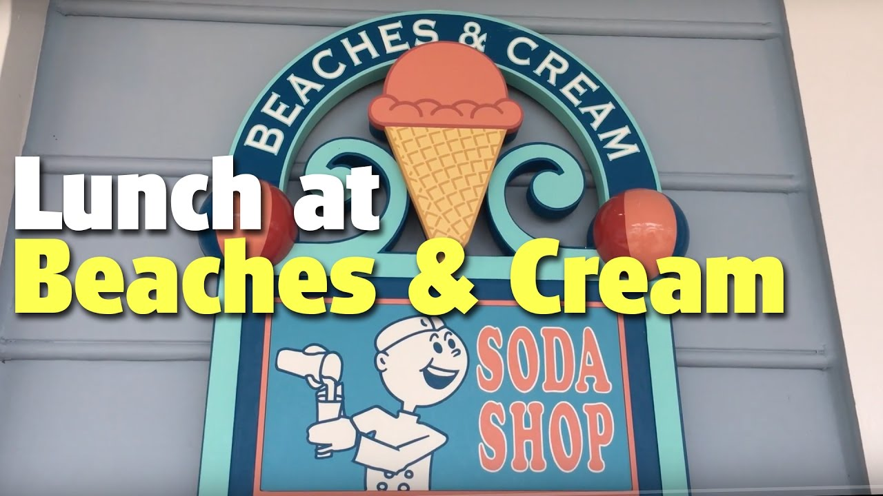 Lunch at Beaches & Cream Soda Shop | Disney\'s Beach Club Resort ...