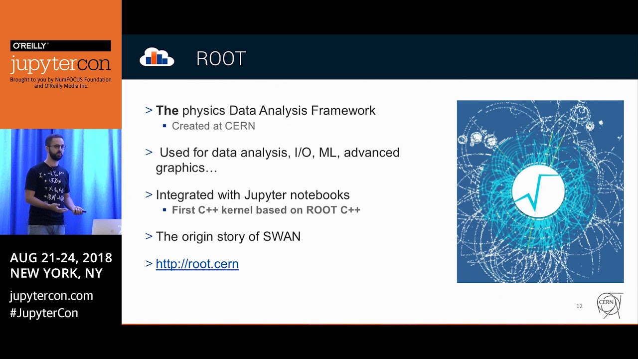 Image from SWAN: CERN's Jupyter-based interactive data analysis service - Diogo Castro (CERN)