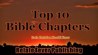 Top 10 Bible Chapters Introduction on Relate4ever Publishing
