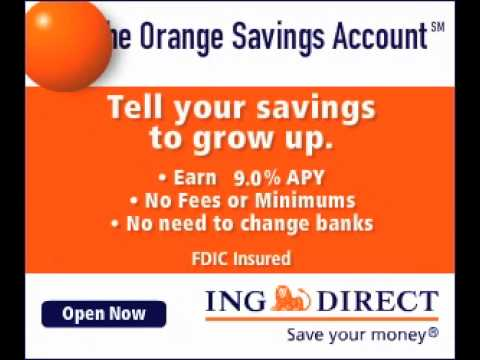 ING Direct US - The Orange Savings Account Banner