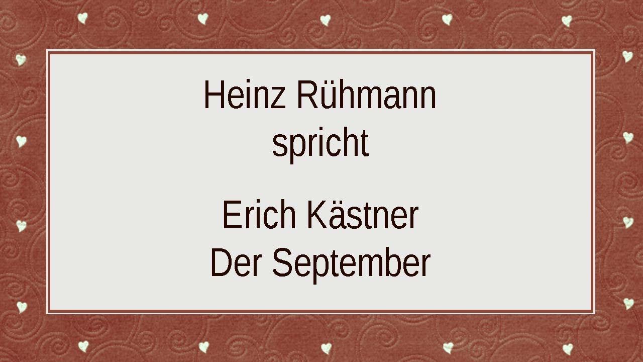 Erich Kästner Der September Ii