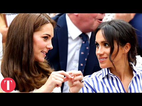 Meghan Markle & Kate Middleton's Growing Friendship vs. Arrive Together At Wimbledon