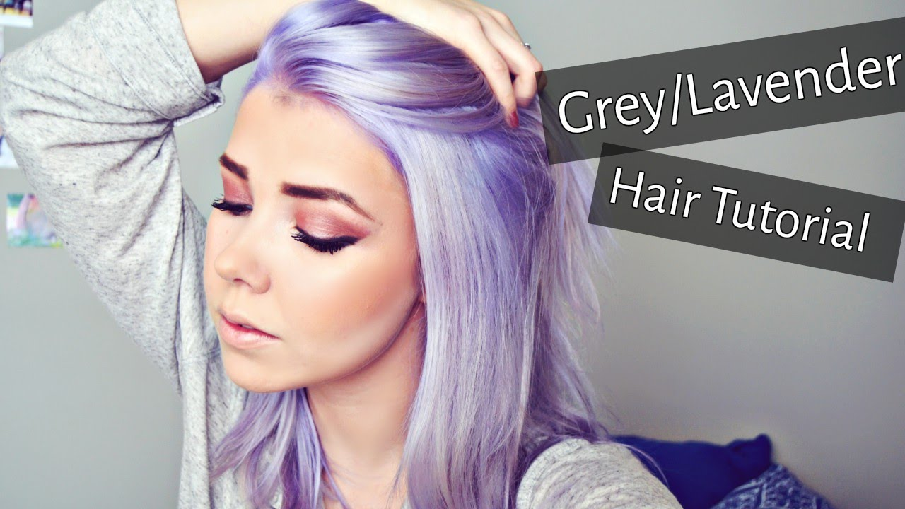 Grey Lavender Hair Tutorial Regrowth Bleaching Amp Toning