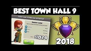 NEW TOWN HALL 9 MEGA TROLL BASE 2018!!!