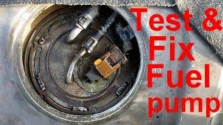 اسباب تعطل طلمبة البنزين وطرق اصلاحها how to test and fix fuel pump
