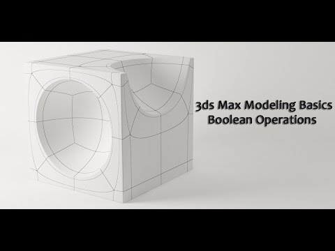 3ds Max Basic Modeling Boolean Operations
