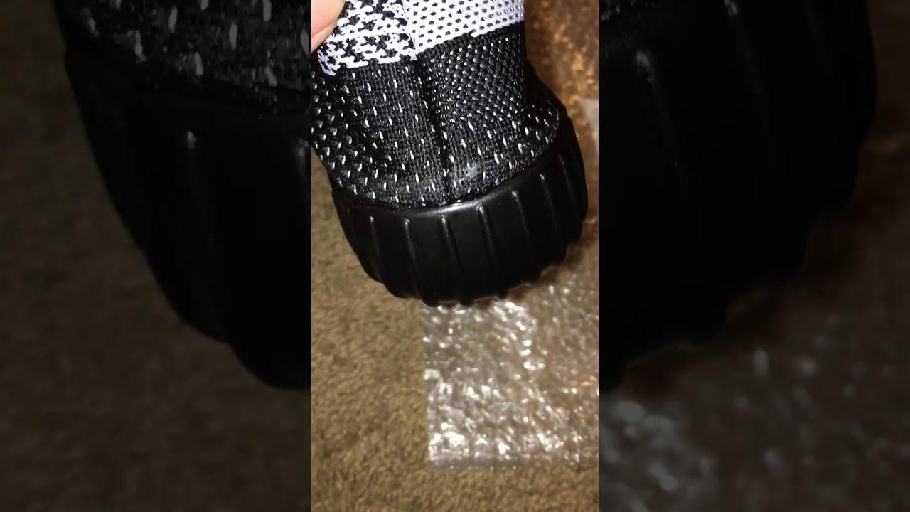 296eb16e2c380 Yeezy boost 350 V2 Review Real vs Fake Comparison (ioffer.com) - YouTube