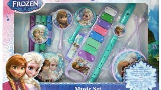 elsa Frozen : music set video  with Elsa Anna musical instruments toys video