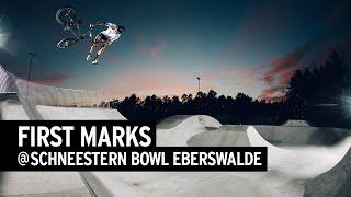 FIRST MARKS  –Paul Thölen & Tom van den Bogaard roasting the new Schneestern Bowl in Eberswalde