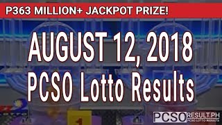 PCSO Lotto Results Today August 12, 2018 (6/58, 6/49, Swertres, STL & EZ2)