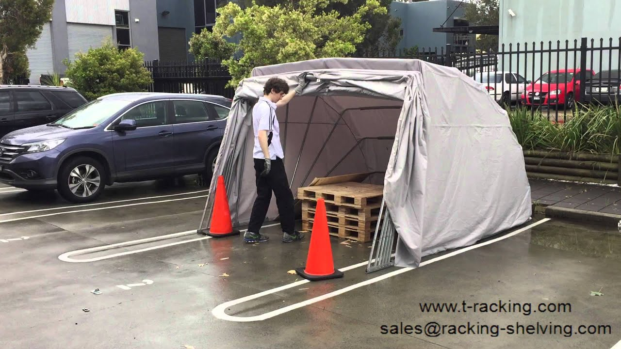 Portable Car Shelter Hailstorm Test After Hailstorm