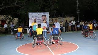 Dr.Kamal Haasan at Wheelchair Basketball Exhibition Match in CMC Pegasus'18