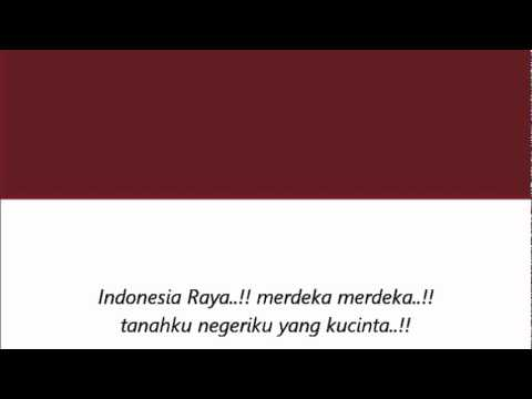 Indonesia Raya (orchestra only) with lyrics