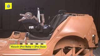 Crash-Test Kindersitz | Siège enfant | Seggiolino auto : Hauck iPro Baby + iPro Base