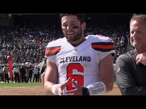 Cleveland Browns Baker Mayfield mic'd up for his first career start I Fifth Third Bank I Week 5