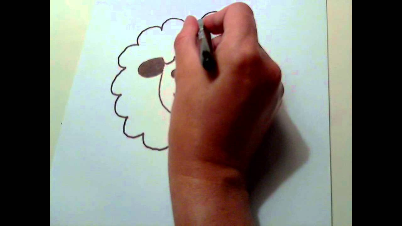 How To Draw A Cartoon Sheep Easy Step By Step Youtube