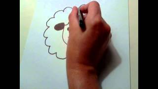 How To Draw A Cartoon Sheep Easy Step By Step