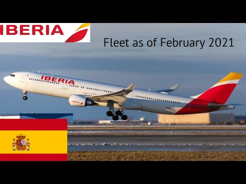 Iberia Fleet as of February 2021