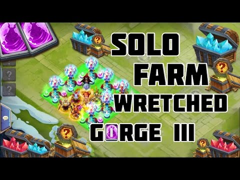 How To SOLO Wretched Gorge III Castle Clash