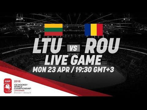 Lithuania - Romania   Live   2018 IIHF Ice Hockey World Championship Division I Group B