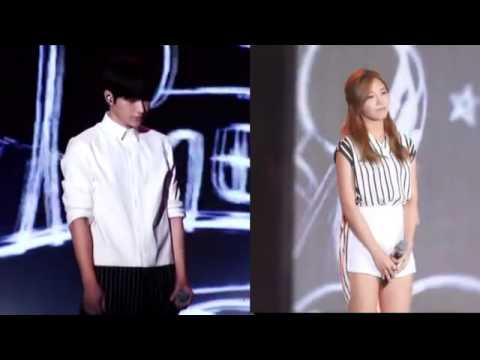[Fancam] 엘 인피니트 Myungsoo Infinite and 에이핑크 은지Eunji Apink @MBC DMZ평화콘서트 Peace Concert 2015