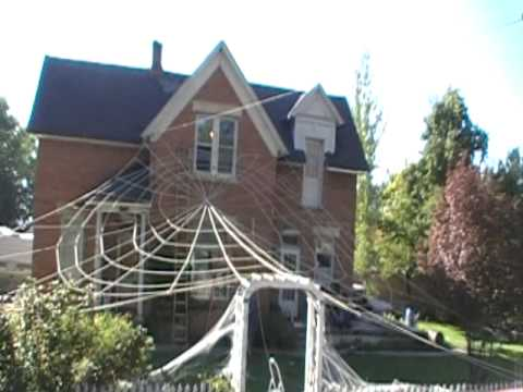 cool spider web decoration youtube. Black Bedroom Furniture Sets. Home Design Ideas