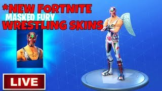 *New WRESTLING SKINS (DYNAMO & MASKED FURY) Fortnite Item Shop Today | SUB 4 SUB