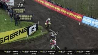 MXGP of Europe MX2 Race 2 Conrad Mewse Crash #Motocross