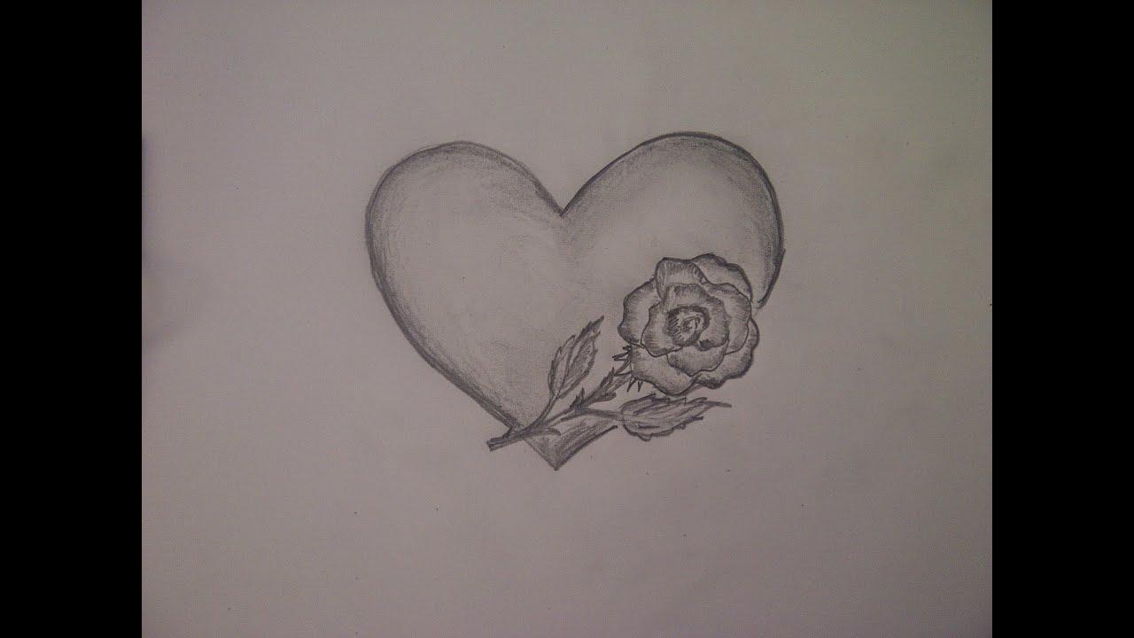 So Malt Zeichnet Man Ganz Einfach Ein Herz Und Eine Rose How To