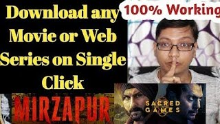download NETFLIX sacred game web series all episodes free|| live proof of downloading