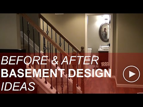 Before and After Basement Finishing Design Ideas!