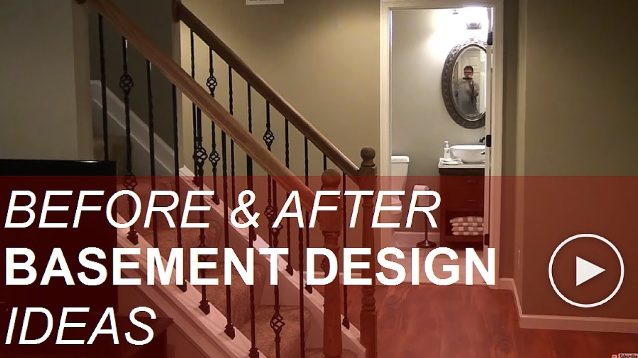 before and after basement finishing design ideas